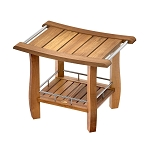 Teak Rectangle Bench with Storage